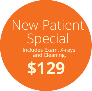 New Patient Special - Includes Exam, X-Rays and Cleaning